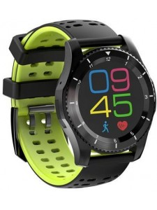 GS8 Smartwatch Bluetooth 4.0 SIM Card Call Message Heart Rate Monitor For Android iOS - Black Green