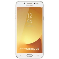 Samsung Galaxy C8 with two touch panels - 32 GB, 3 GB Ram, 4G 4th generation, Golden